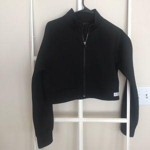 Gymshark cropped zip jacket size medium